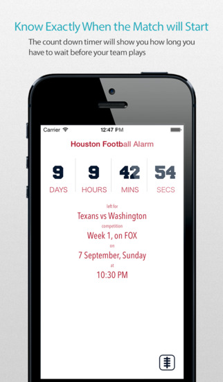 Houston Football Alarm Pro