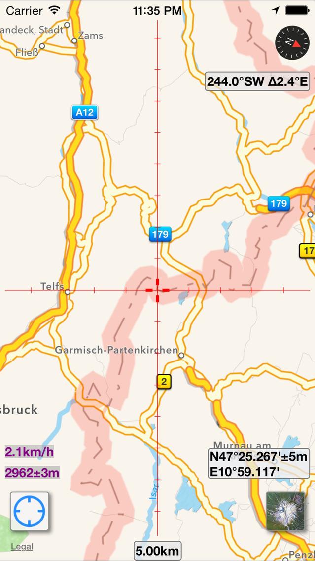 Screenshot for MapTool - GPS, Brújula, Altitud, Velocidad, UTM, MGRS y Declinación Magnética in Peru App Store