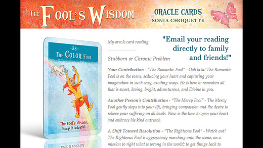 The Fool's Wisdom Oracle Cards - Sonia Choquette
