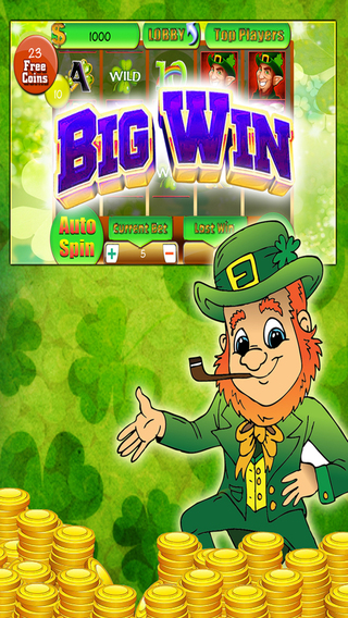 Leprechaun mega jackpot slots machine – Irish style progressive casino game