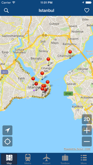 Istanbul Offline Map - City Metro Airport and Travel Plan Screenshots