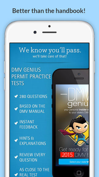 DMV Genius: Permit Practice Tests for Your State