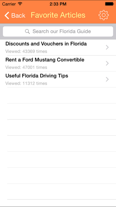 Florida Guide iPhone Screenshot 3