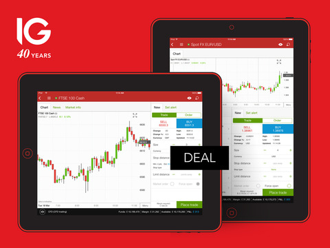 IG CFD Trading and Forex for iPad Screenshots