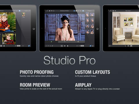 Studio Pro - Photo Proofing Print Sales Wall Displays and In-Person Sales