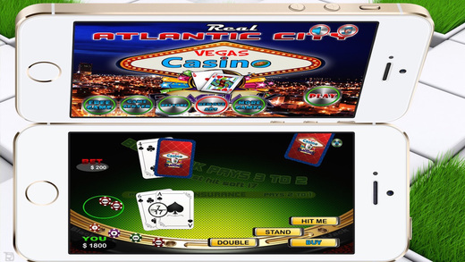 Atlantic City Las Vegas Casino Blackjack - Free Play Beat the House Table Rules 21
