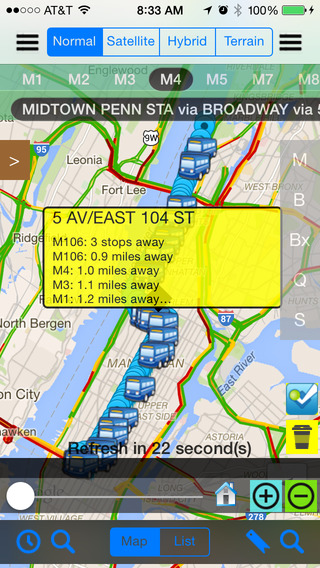 NYC Bus Real Time - Public Transportation Directions and Trip Planner