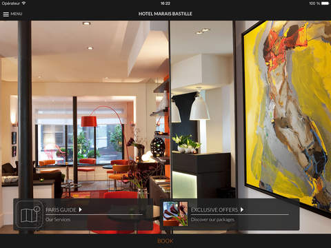 Hotel Marais Bastille Paris for iPad
