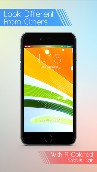 Fancy Status Bar Wallpaper Customizer with Colorful Top Overlays - Make Cool Custom Wallpapers Backg