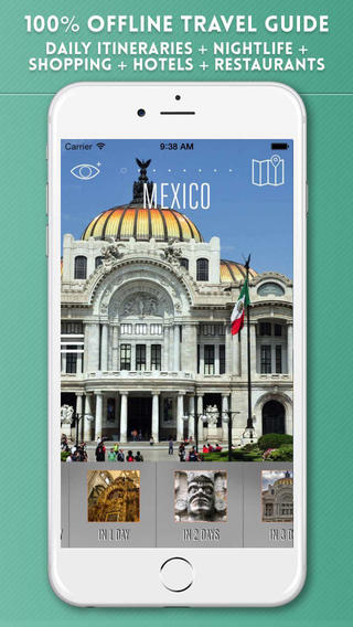 Mexico City Travel Guide with Offline Street and Metro Maps