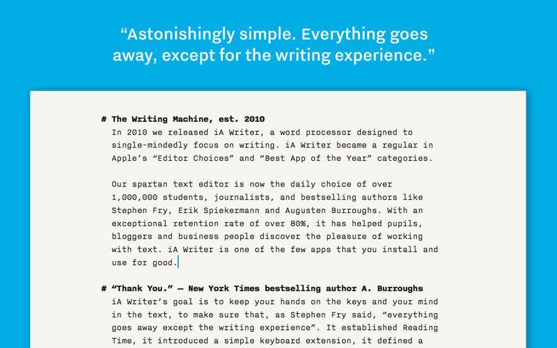 iA Writer Pro 文本编辑器[Mac] ¥68丨反斗软件值得买