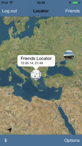 Locator of friends