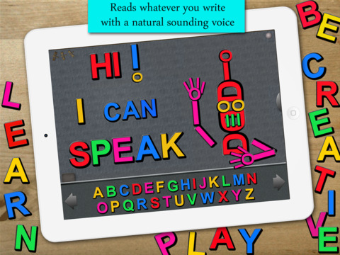 Talking ABC - Magnetic Alphabet for Education in English and Spanish