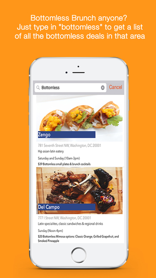 Screenshots for Boozy- Find Happy Hours, Daily Deals, and Brunches
