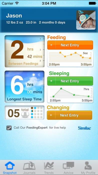 Similac Baby Journal iPhone Screenshot 1