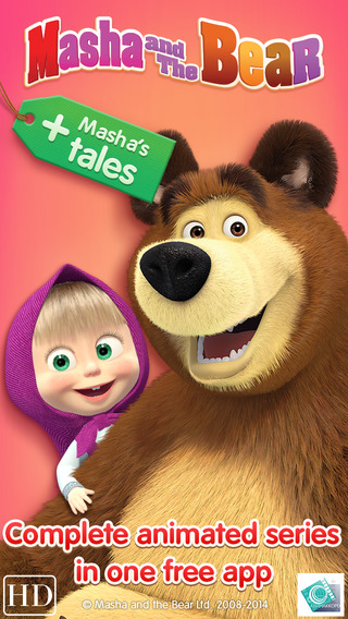 Masha and The Bear The game + Tailes from Masha : two animated series about Masha in one free applic