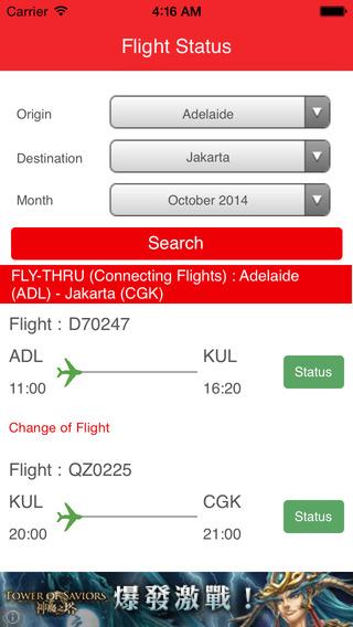 Flight Status - for AirAsia