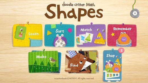 Doodle Critter Math: Shapes
