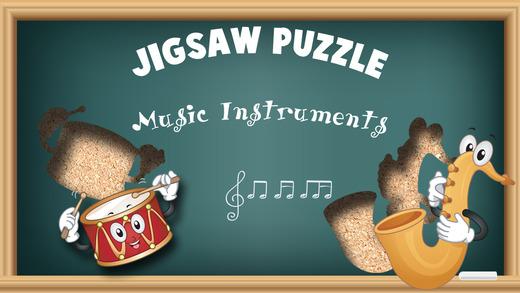 Free Music Instruments Cartoon Jigsaw Puzzle