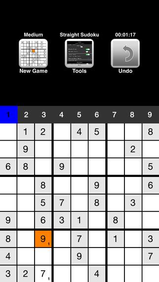 Straight Sudoku