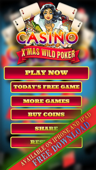 X'mas Wild Poker - Play the All New 2014 Christmas Video Poker Game for Free