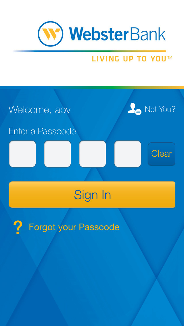 Webster Bank Mobile screenshot 1