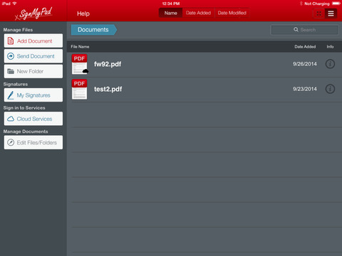 SignMyPad Pro iPad Screenshot 1