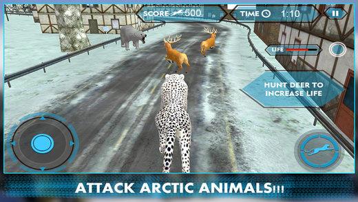 Wild Snow Leopard Simulator 3D