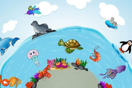 幼儿海边玩耍简笔画