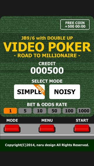 VIDEO POKER - Road to millionaire