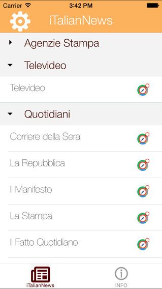 iTalian News iPhone Screenshot 1
