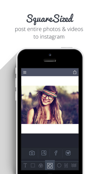 Square Sized - Crop export entire picture and video without cropping Instagram Edition