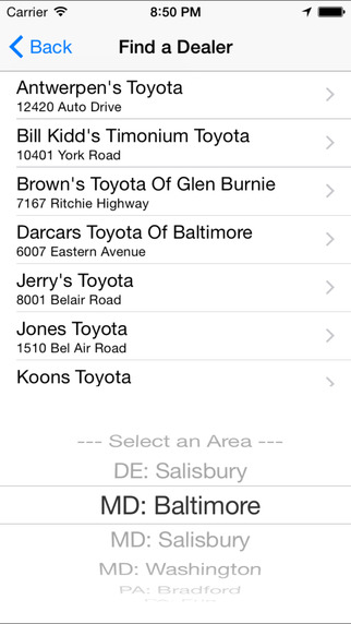 Toyota: Mid-Atlantic Deals iPhone Screenshot 4