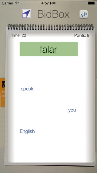 BidBox Vocabulary Trainer: English - Portuguese iPhone Screenshot 3
