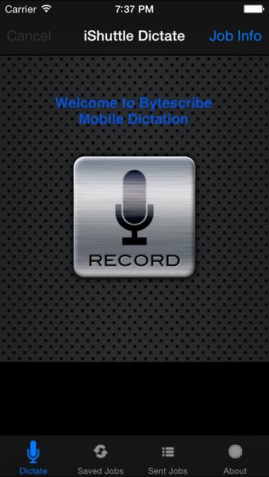 iShuttle Dictate iPhone Screenshot 1