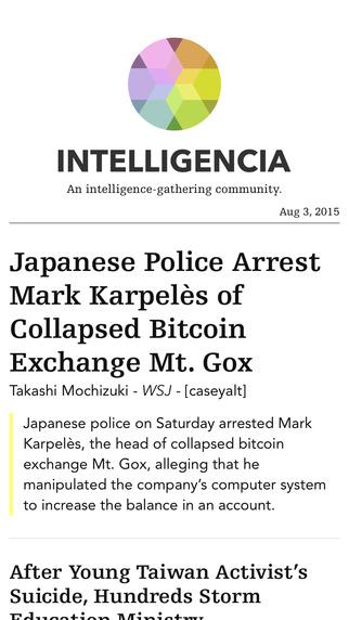 Intelligencia: An intelligence-gathering community.