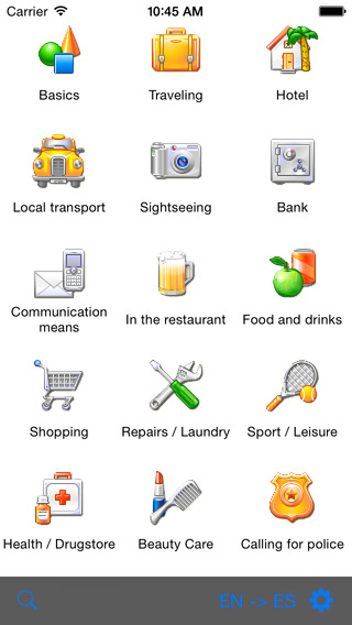 German-Tagalog Talking Travel Phrasebook iPhone Screenshot 1