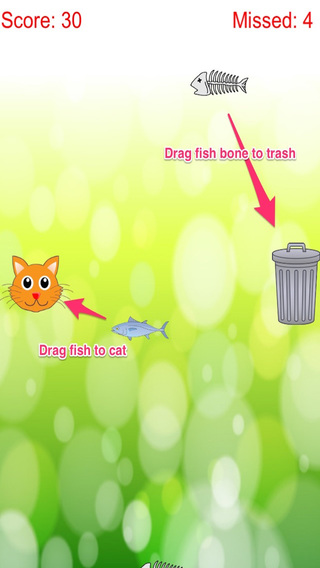 Distinguish Food And Rubbish: Feed Cute Cat With Fish