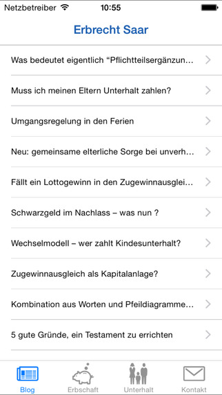 Erbrecht Saar iPhone Screenshot 2