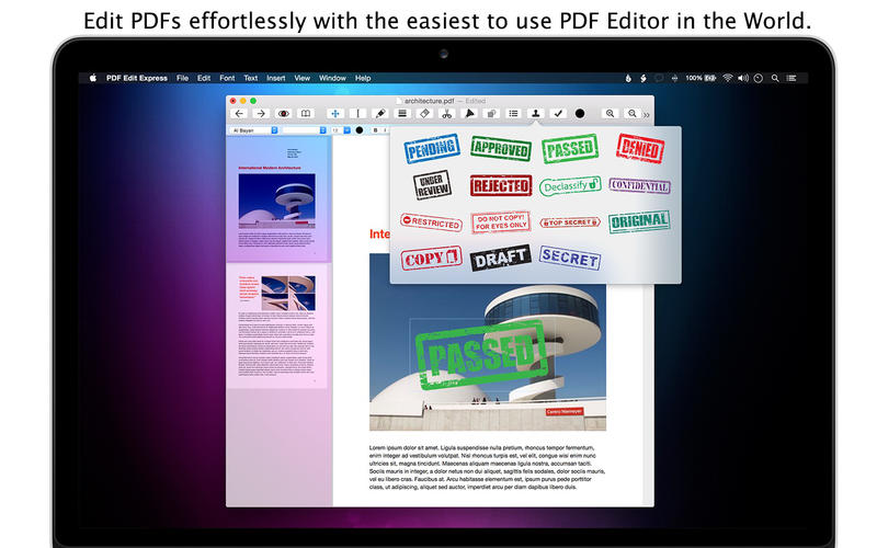 PDF Edit Express Screenshot