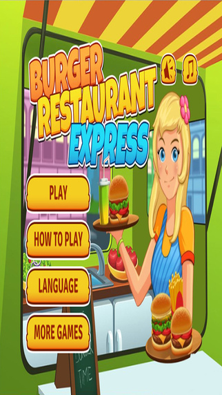 Burger Restaurant Express Kids Game