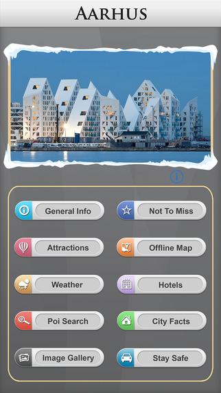 Arhus Offline Map Travel Guide