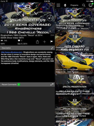 Download The Free V8TV iPhone iPad App!