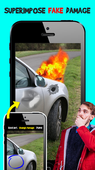【免費娛樂App】Damage Cam - Fake Prank Photo Editor Booth-APP點子