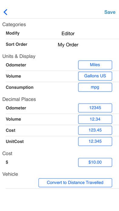 Fuel Log 3 iPhone Screenshot 3