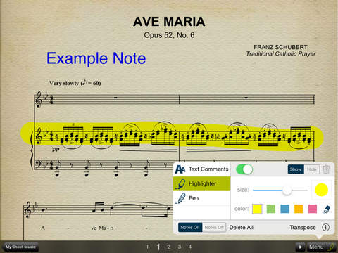 Musicnotes Sheet Music Viewer for iPad iPad Screenshot 1