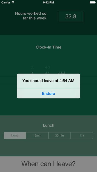 ClockOut iPhone Screenshot 2