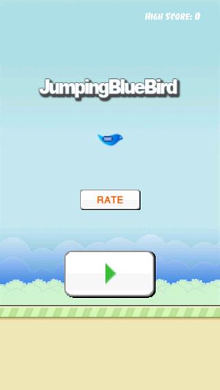 Jumping Blue Bird