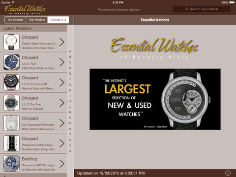 Essential Watches For iPad