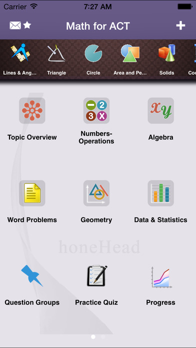 ACT Math Aptitude iPhone Screenshot 1